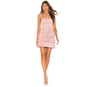 X by NBD Dusty Suede Mini Dress in Light Pink
